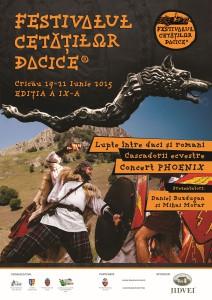festivalul cetatilor dacice. afis