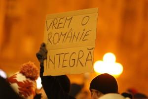 Peste 3.000 de protestatari participa duminica, 22 ianuarie 2017, in Timisoara, la mitingul impotriva ordonantei de urgenta privind amnistia si gratierea.EMANUEL TITUS ILIESI / MEDIAFAX FOTO