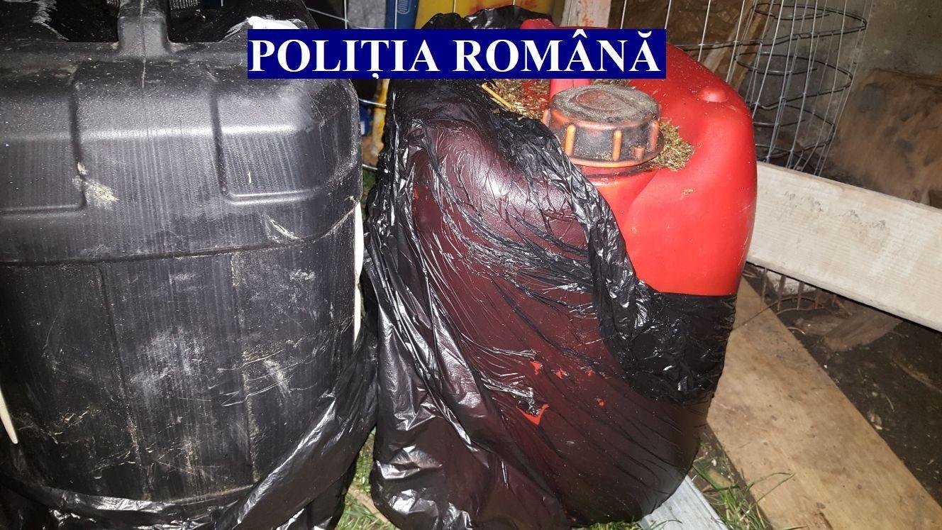 Au ascuns combustibilul furat într-o...criptă. Patru persoane au fost reținute pentru infracțiuni comise în zona Blaj