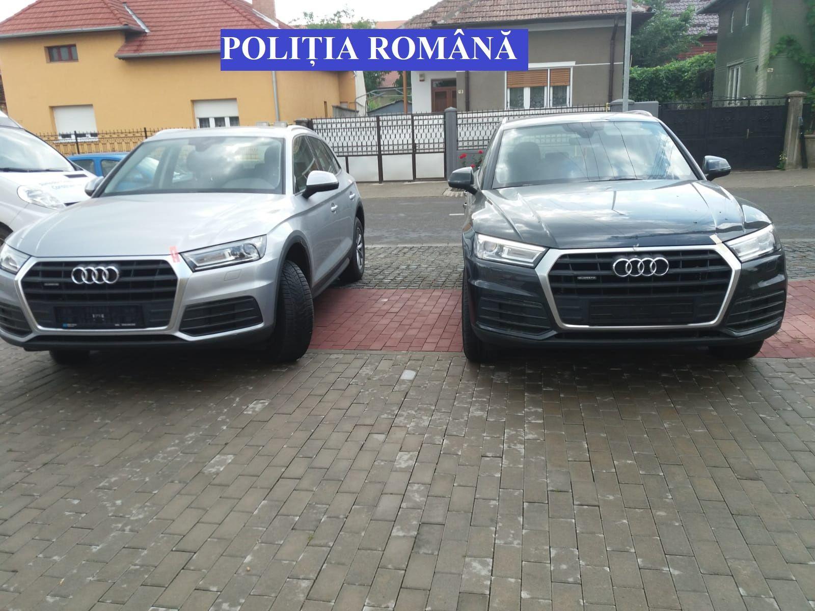 Foto-video: Caz de trafic cu mașini de lux, anchetat de polițiștii din Alba