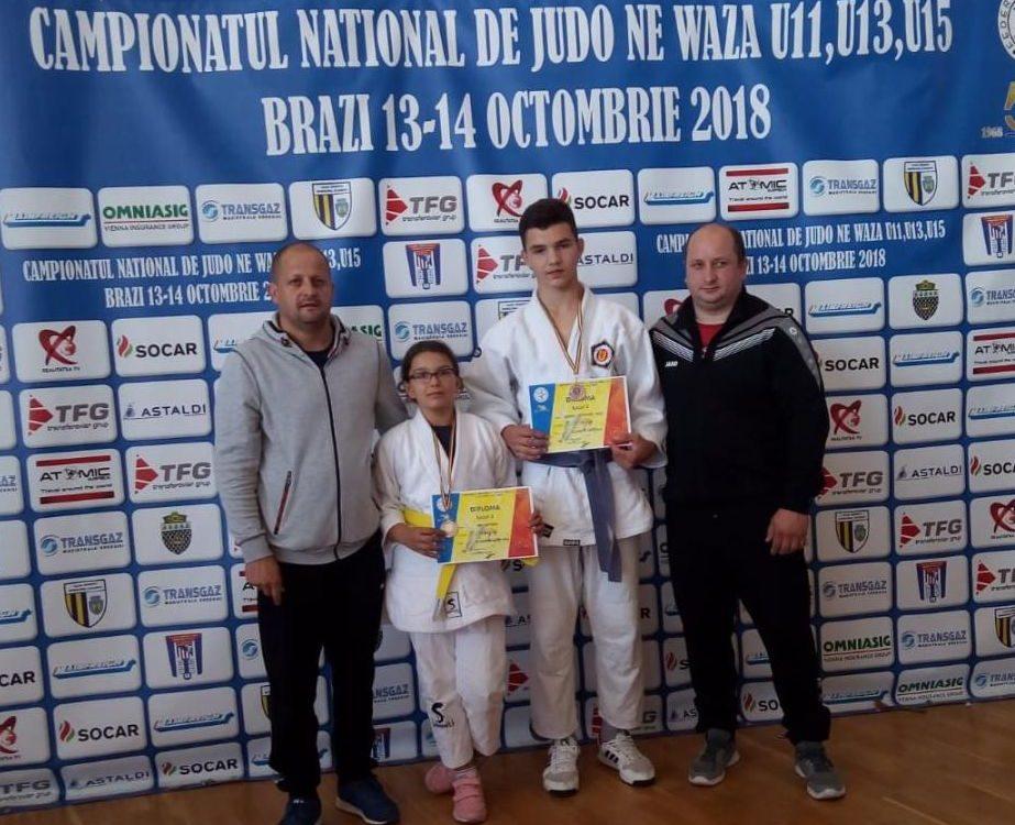 Doi sportivi legitimați la CS Unirea Alba Iulia, medaliați la Campionatul Național de Judo Ne Waza U11, U13, U15