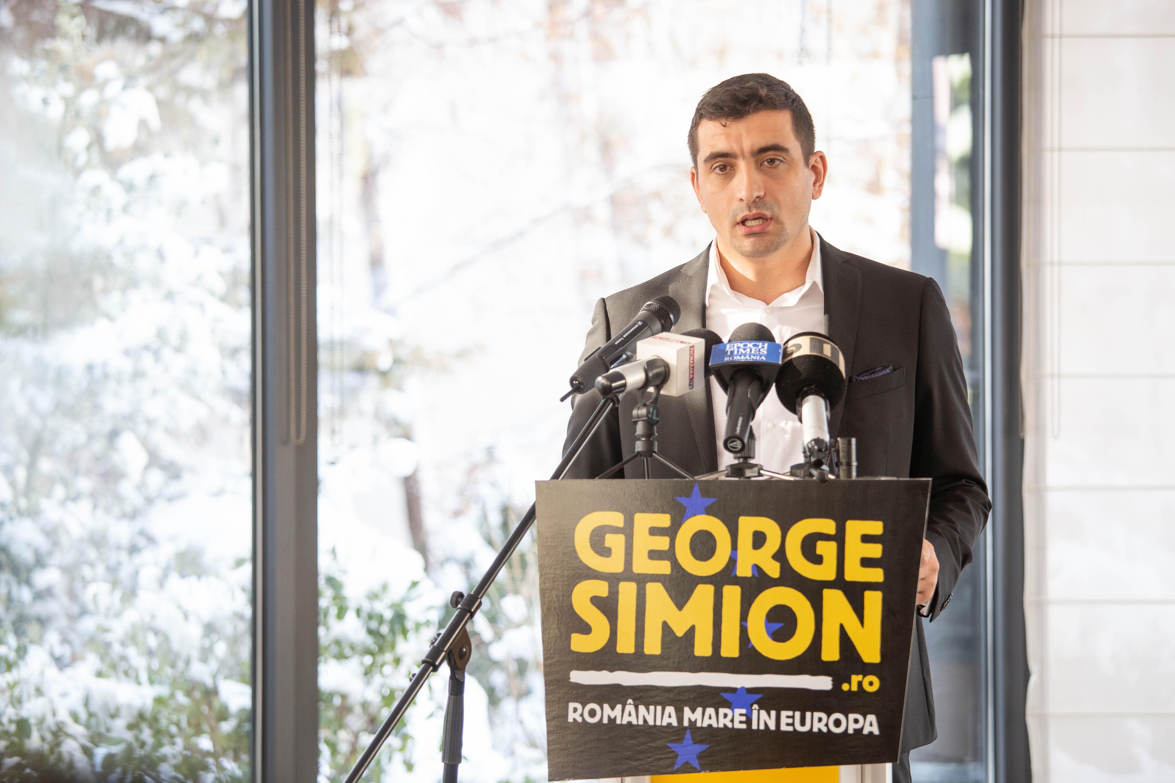 George Simion, liderul mișcării unioniste, candidat la alegerile europarlamentare