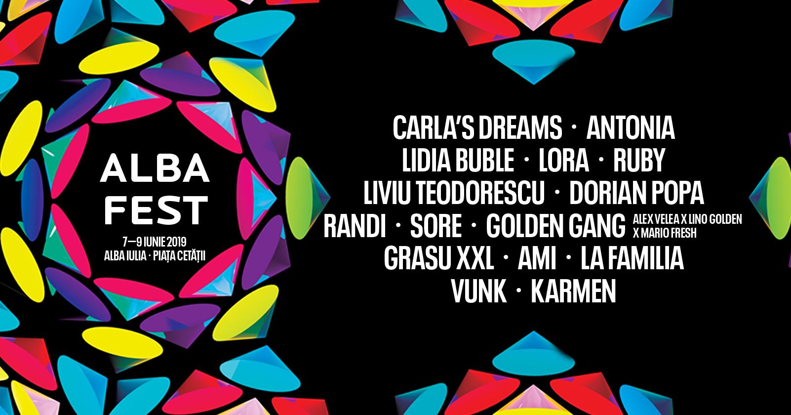 7-9 iunie: Sunteți așteptați la ALBA FEST 2019.  Artiști de top vor concerta în Piața Cetății!