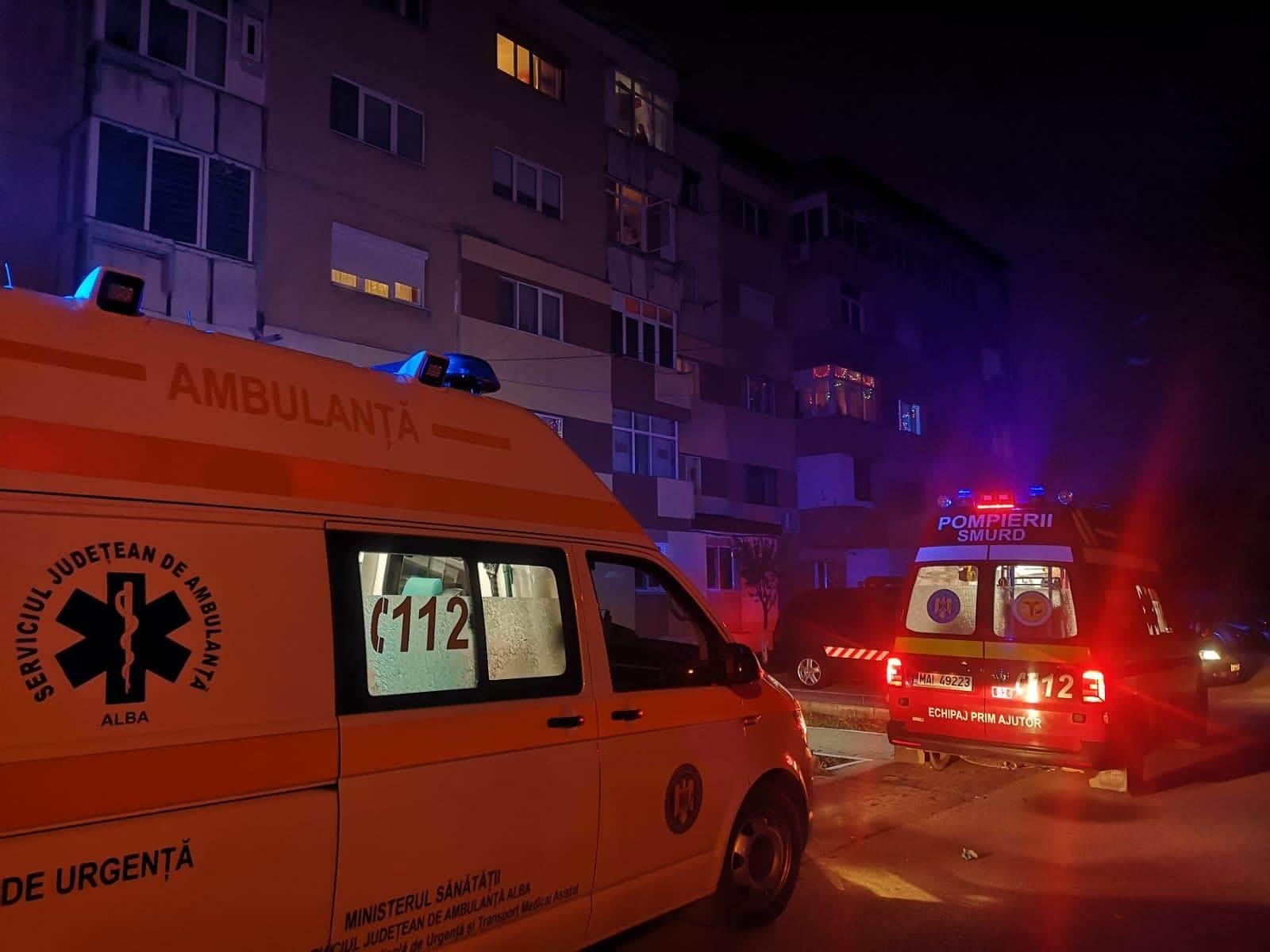 Alertă la 112. Trei persoane căzute, într-un apartament din Alba Iulia