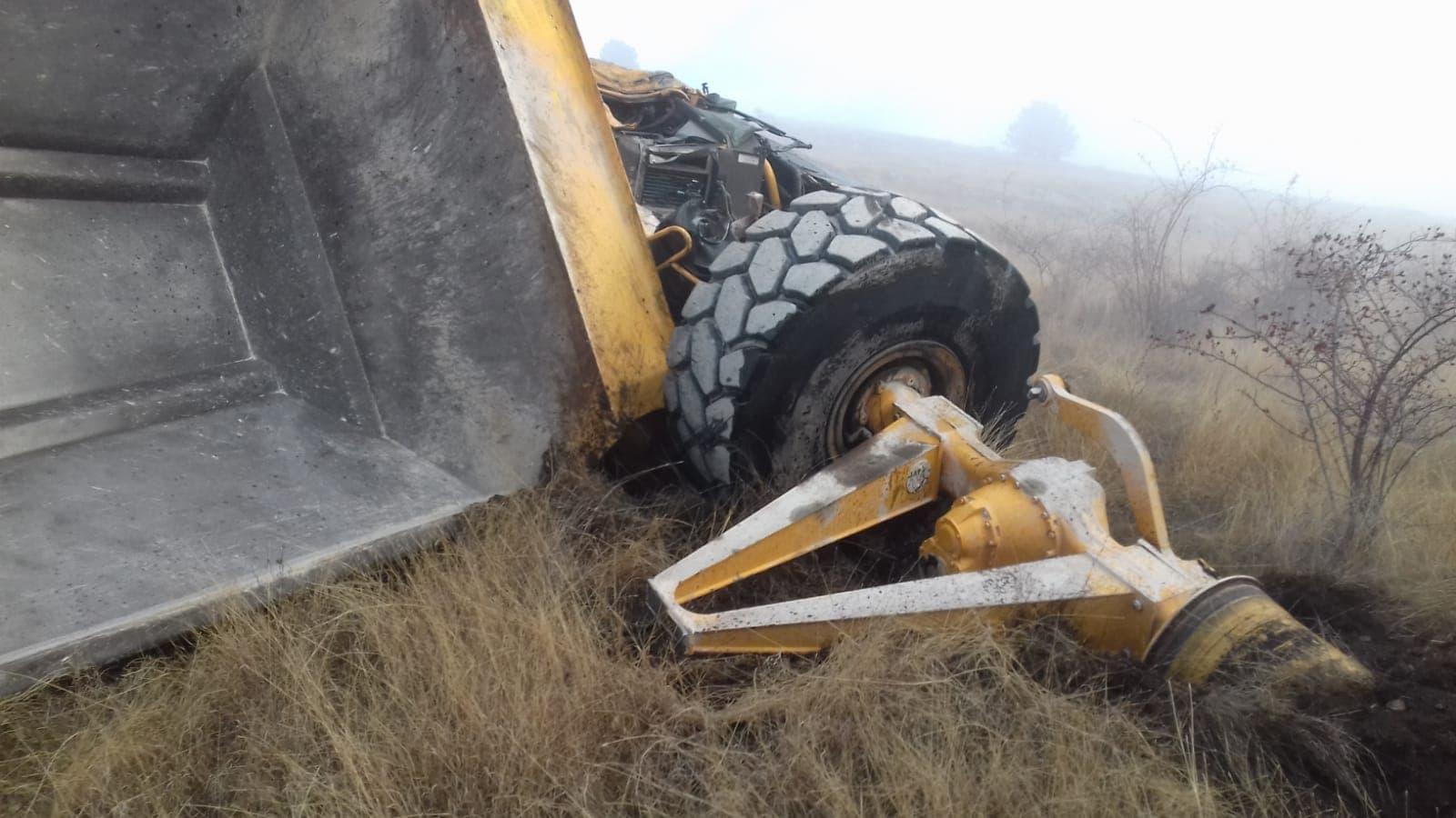 Accident mortal în zona unei cariere din Alba. Un om a murit strivit de o mașină de mare tonaj